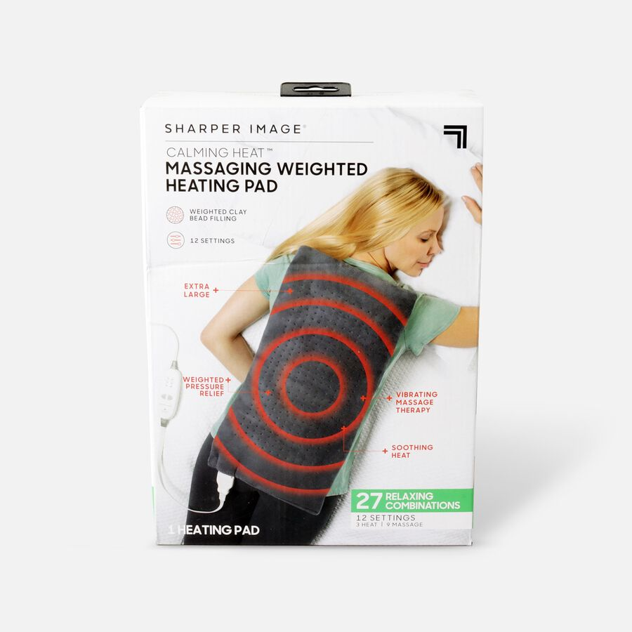 """Sharper Image® Calming Heat Massaging Weighted Heating Pad, 12"""" x 24"""", 4 lbs, , large image number 0"""