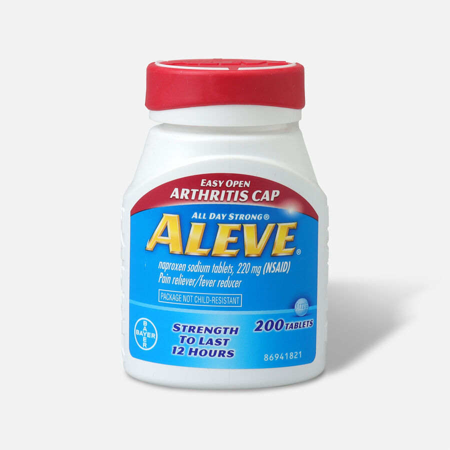 Aleve Pain Reliever, Fever Reducer, 220mg Tablets, Easy Open Cap, 200 ea, , large image number 0