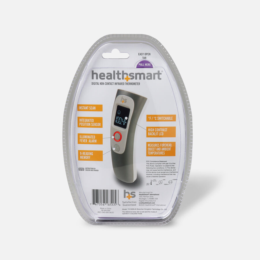 Health Smart Non-Contact Digital Forehead Thermometer, , large image number 1