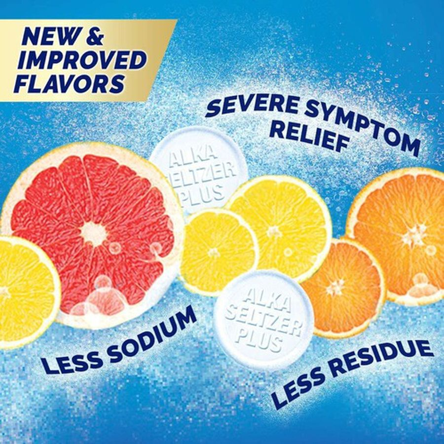 Alka-Seltzer Plus Severe Cold Powerfast Fizz Effervescent Tablets, Citrus, 20 Count, , large image number 10
