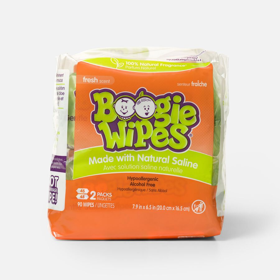 Boogie Wipes Saline Nose Wipes, , large image number 0