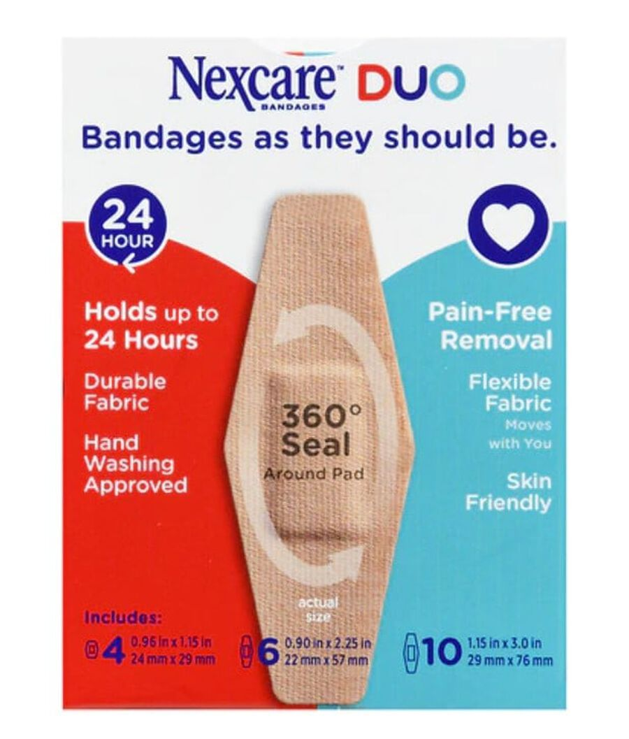 Nexcare DUO Bandage, Assorted, 20ct, , large image number 1