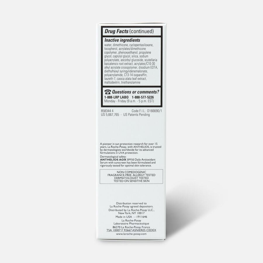 La Roche-Posay Anthelios AOX Daily Antioxidant Serum SPF 50, , large image number 3