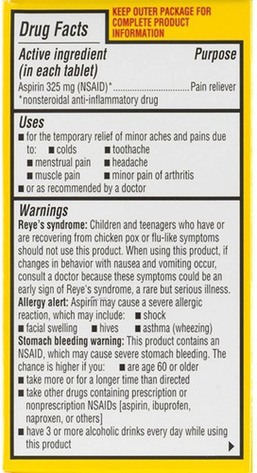 Ecotrin, Regular Strength Aspirin Tablets, 125 ct., , large image number 4