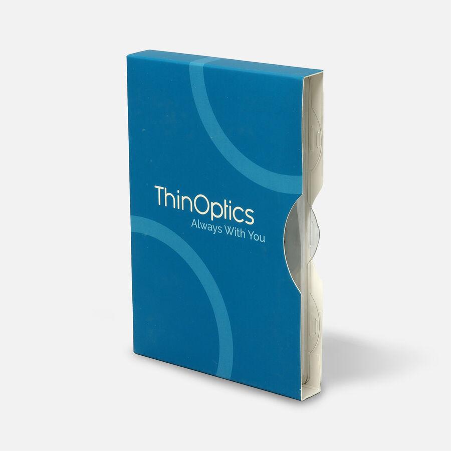 ThinOPTICS Reading Glasses on your Phone, +2.00 Black Glasses, White Universal Pod Case, , large image number 2