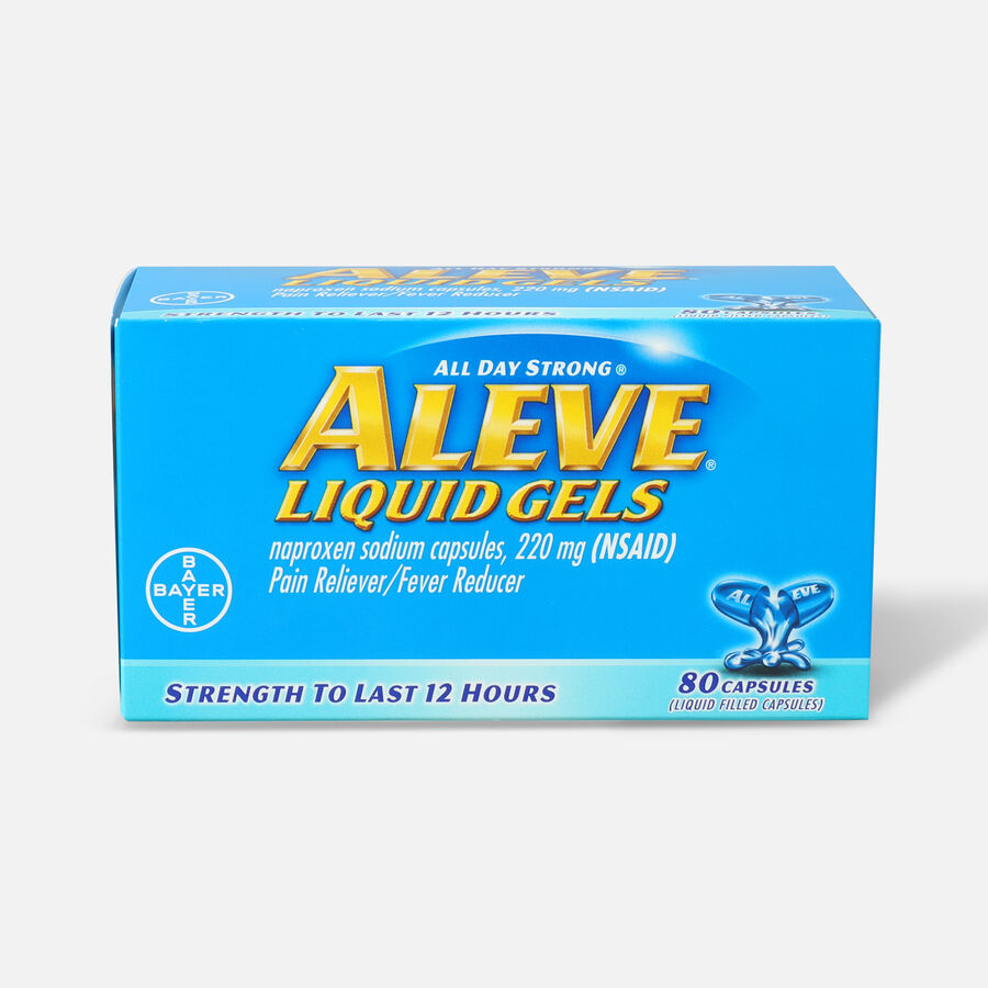 Aleve Liquid Gels Pain Reliever/Fever Reducer, 80 ea, , large image number 0