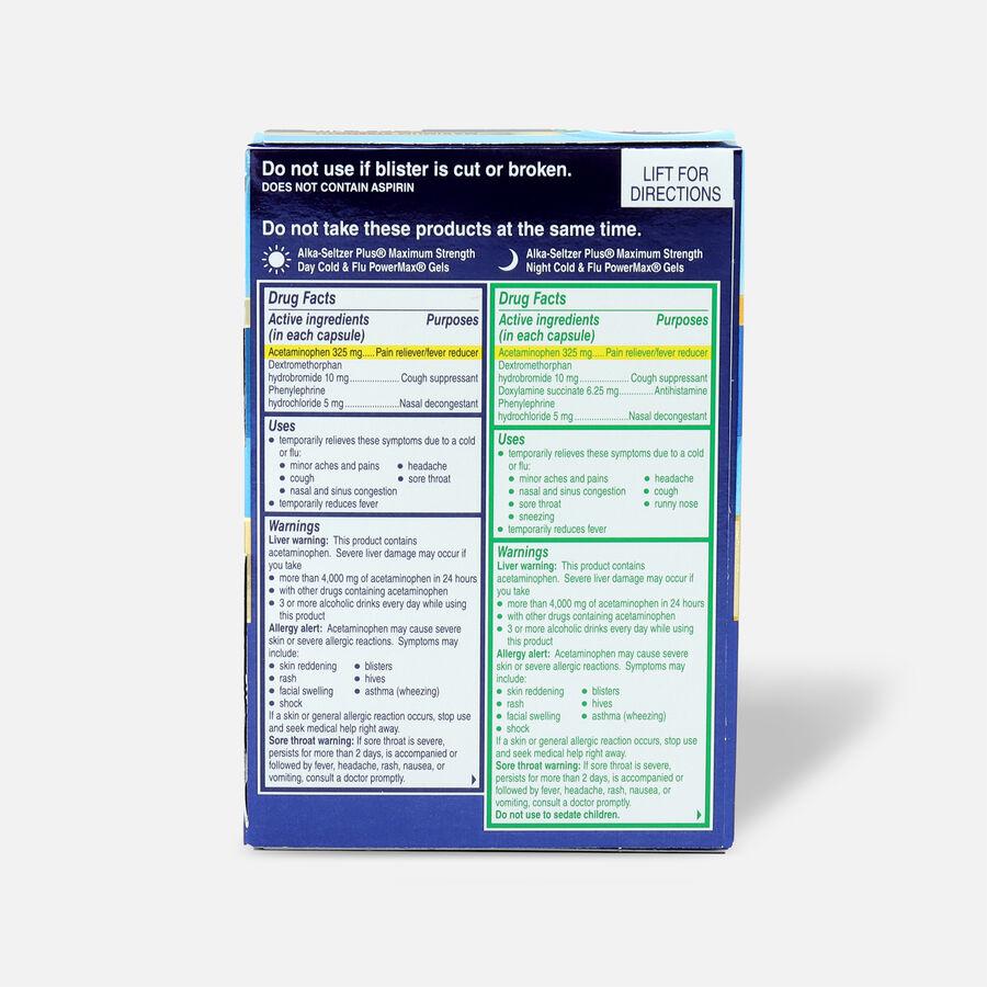 Alka-Seltzer Plus PowerMax Gels, Cold & Flu, Day & Night, 36ct, , large image number 1