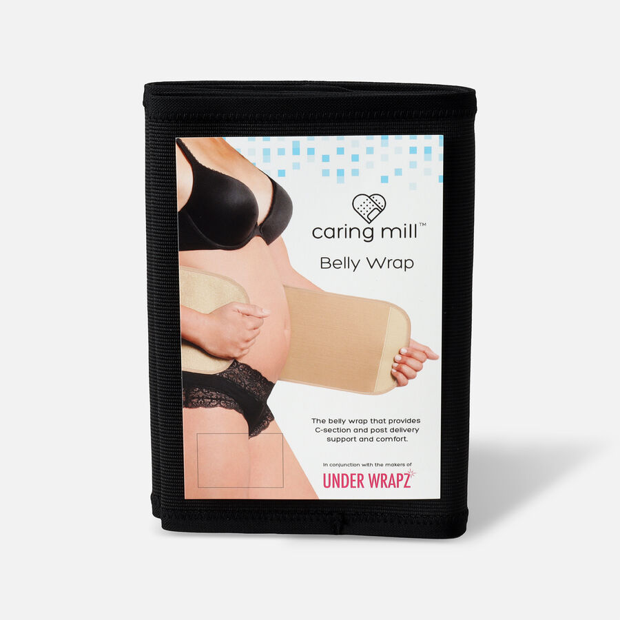 Caring Mill® Belly Wrap by Under Wrapz- Black, , large image number 2