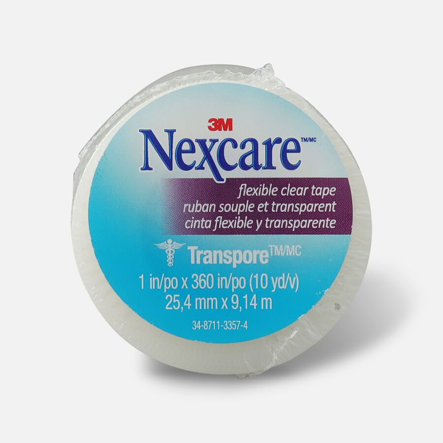 """Nexcare Flexible Clear Tape, 1"""" x 10 yds.- 1ct, , large image number 0"""