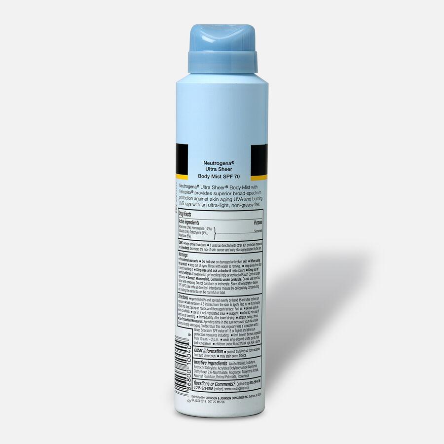 Neutrogena Ultra Sheer Body Mist Sunscreen Spray, 5oz., , large image number 3