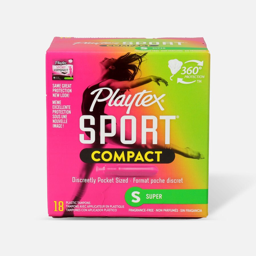 Playtex Sport Compact Tampons, Unscented, , large image number 4