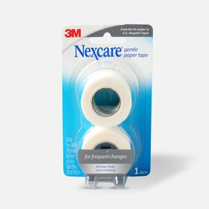 "Nexcare Gentle Paper Tape, 1"" x 20 yds - 2ct"