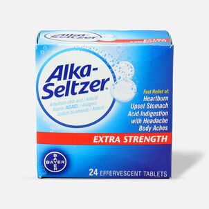 Alka-Seltzer Effervescent Tablets, Extra Strength, 24ct