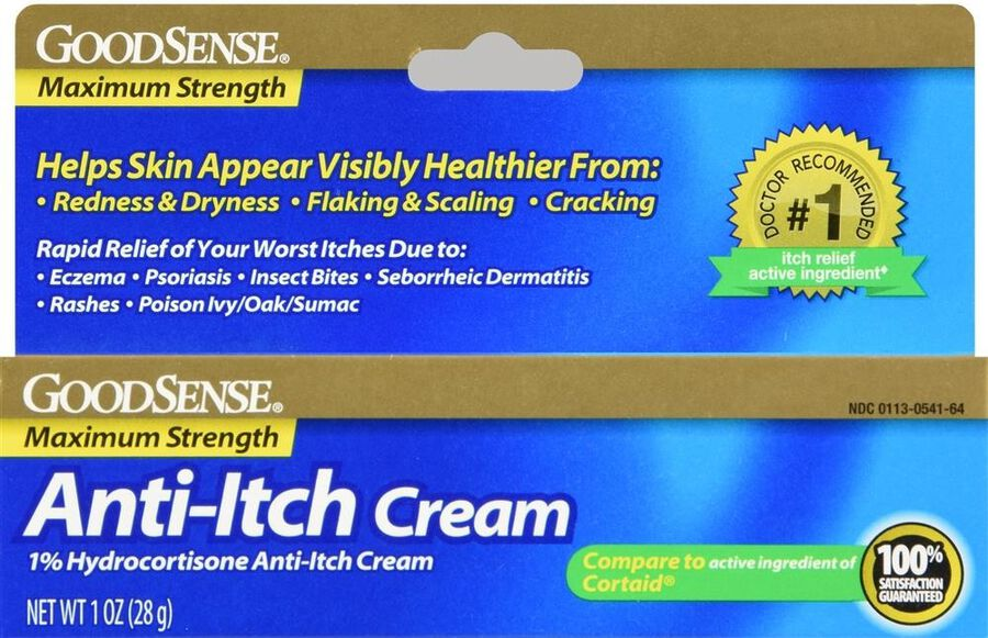 GoodSense® Hydrocortisone 1% Anti-Itch Cream Max Strength, 1 oz, , large image number 0