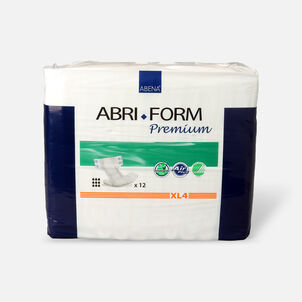 "Abena Abri-Form XL4 Premium Adult Briefs, Extra Large - 44"" - 68"", 12ct"