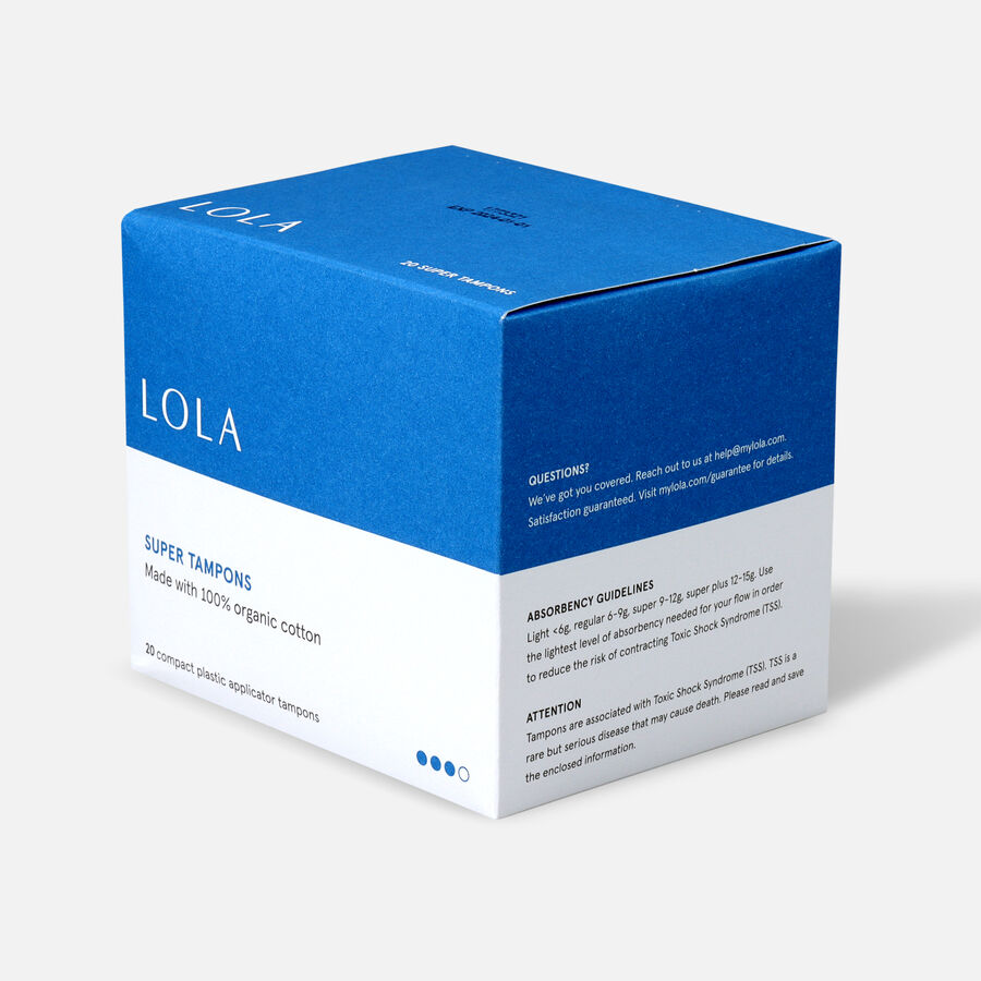 LOLA Tampons, Compact Plastic Applicator, 20ct, , large image number 11
