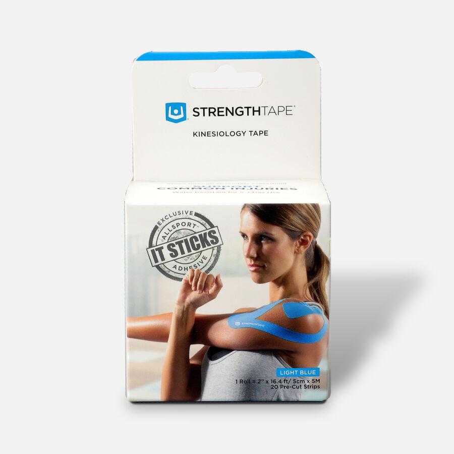 StrengthTape Kinesiology Precut Tape, Light Blue, 20 ct, , large image number 0