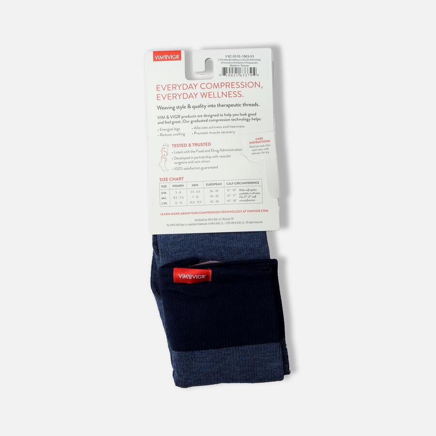 VIM & VIGR Cotton Socks, Heathered Collection Navy, 30-40 mmHg, , large image number 3