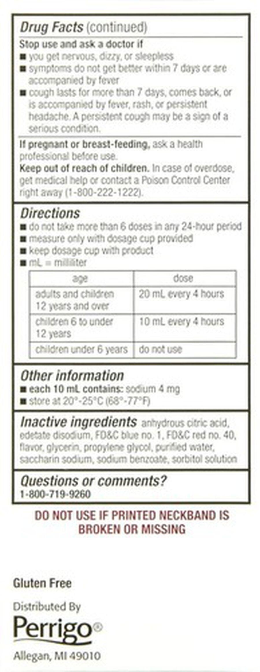 GoodSense® Childrens Cold & Cough, Grape 4 oz, , large image number 2