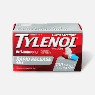 Tylenol Extra Strength Rapid Release Gels, 100 ct