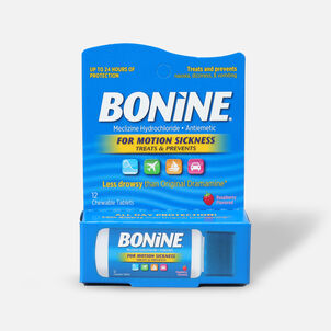 Bonine Travel Pack for Motion Sickness, 12 ct