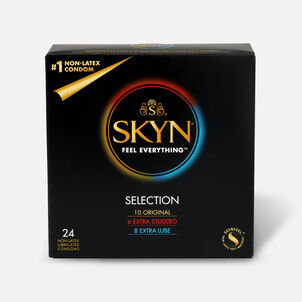 Lifestyles SKYN Non-Latex Condom Selection, 24 Count