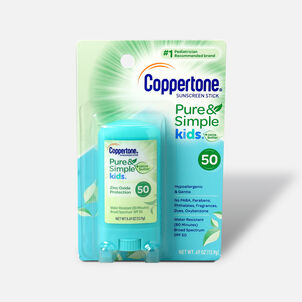 Coppertone Kids Sunscreen Stick Broad Spectrum SPF 50, .46 oz