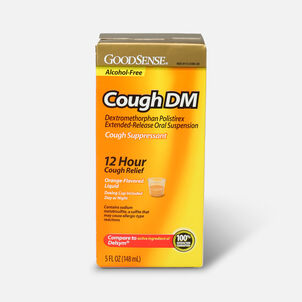 GoodSense® Cough DM 12 Hr Cough Relief Orange (Alcohol Free), 5 fl oz