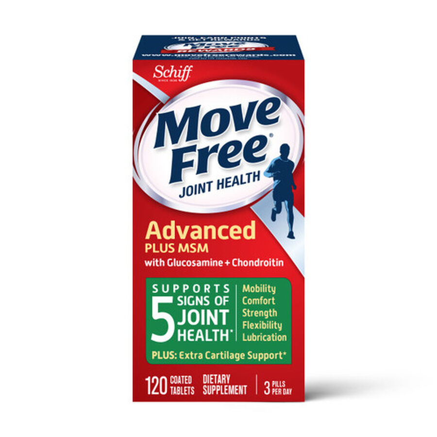 Schiff Move Free Advanced Plus MSM, 120 ct, , large image number 2