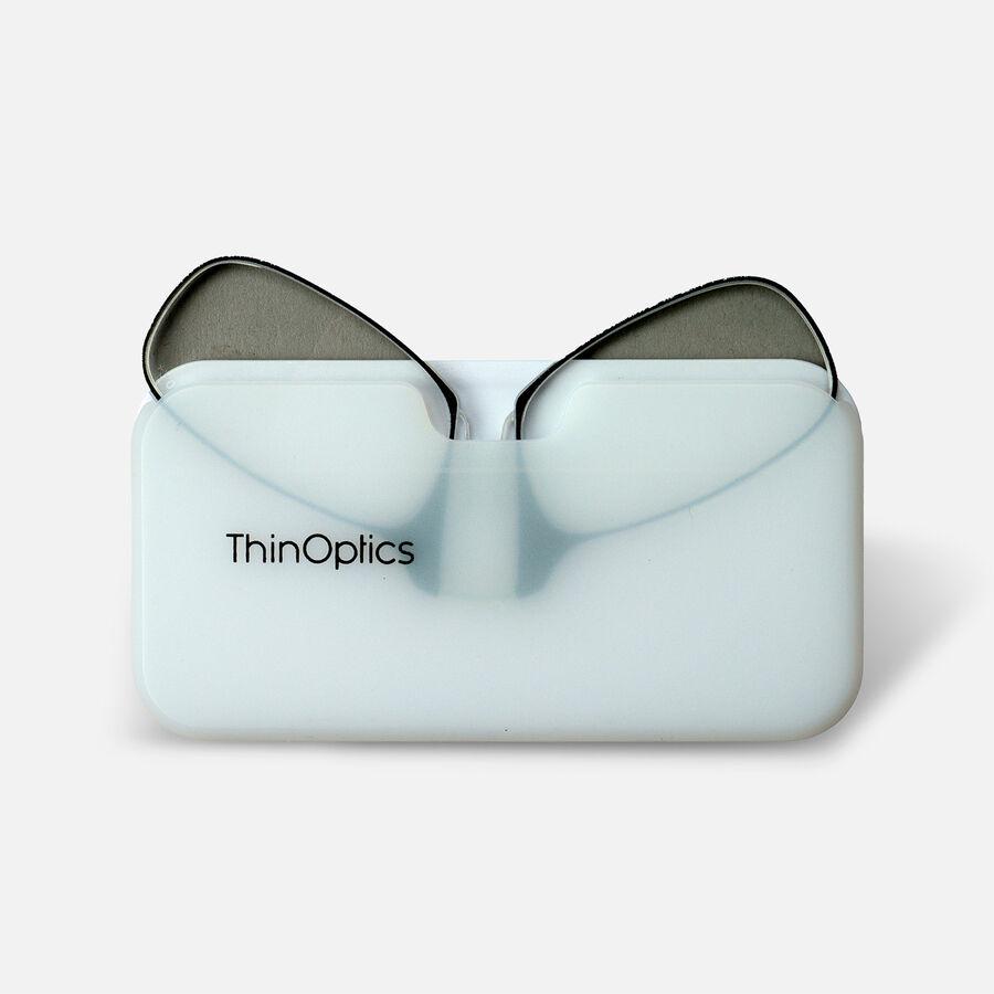 ThinOPTICS Reading Glasses on your Phone, +2.00 Black Glasses, White Universal Pod Case, , large image number 4