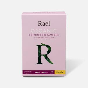 Rael Organic Cotton Core Tampons with BPA-Free Applicators