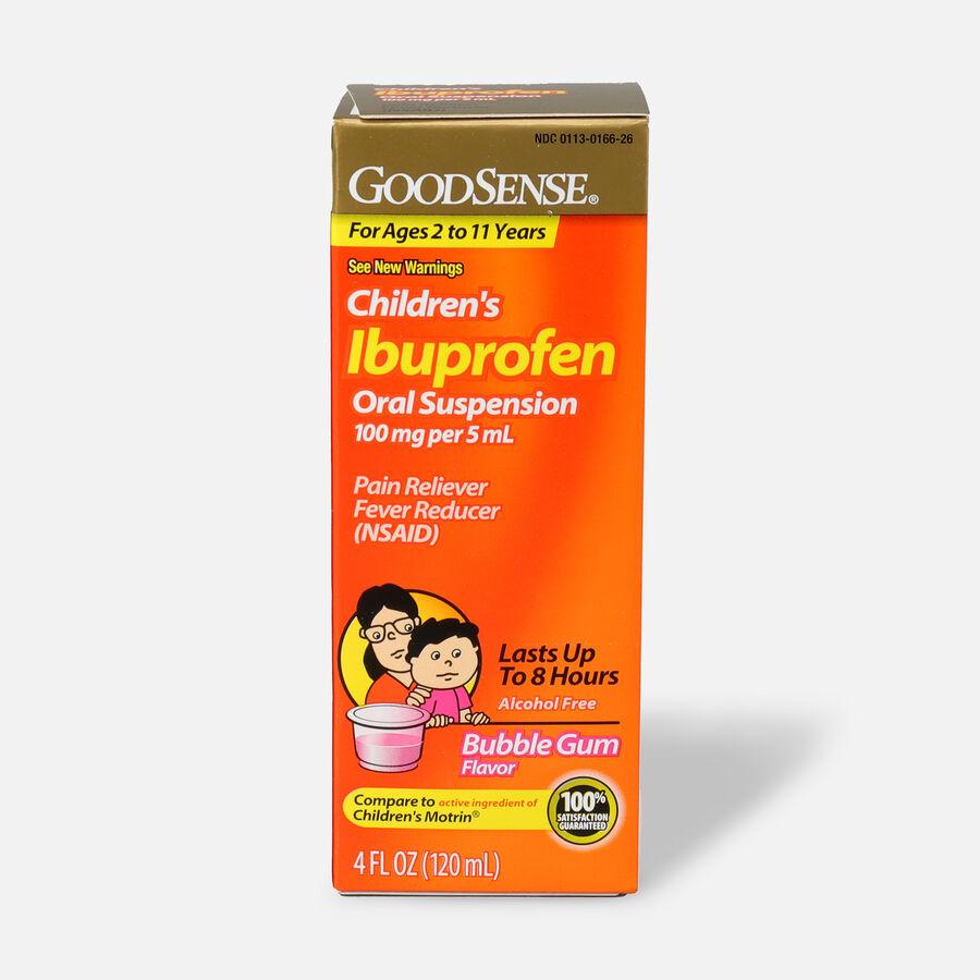 GoodSense® Children's Ibuprofen 100mg Oral Suspension, 4 fl oz, , large image number 0