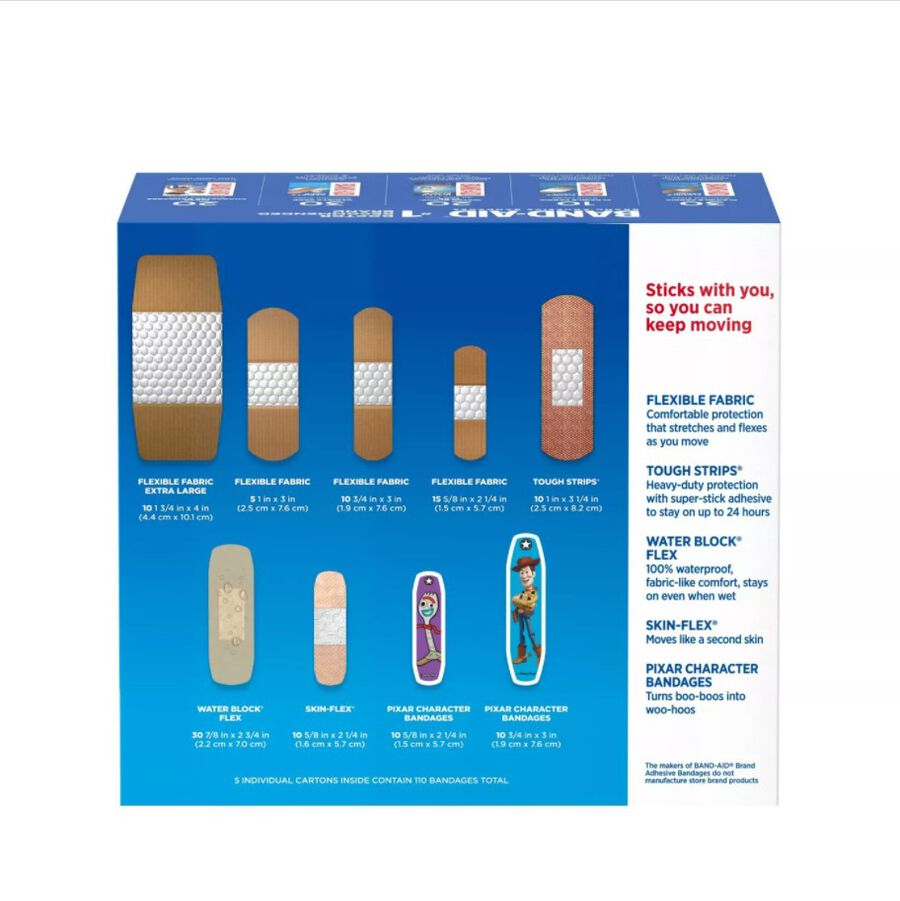 Band-Aid Family Pack Adhesive Bandages, 110 ct, , large image number 1