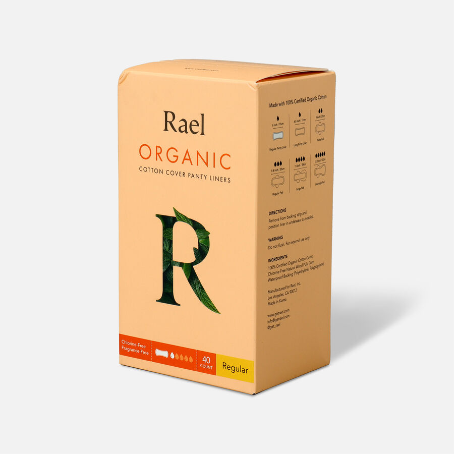 Rael Organic Cotton Cover Panty Liners - Regular, , large image number 4