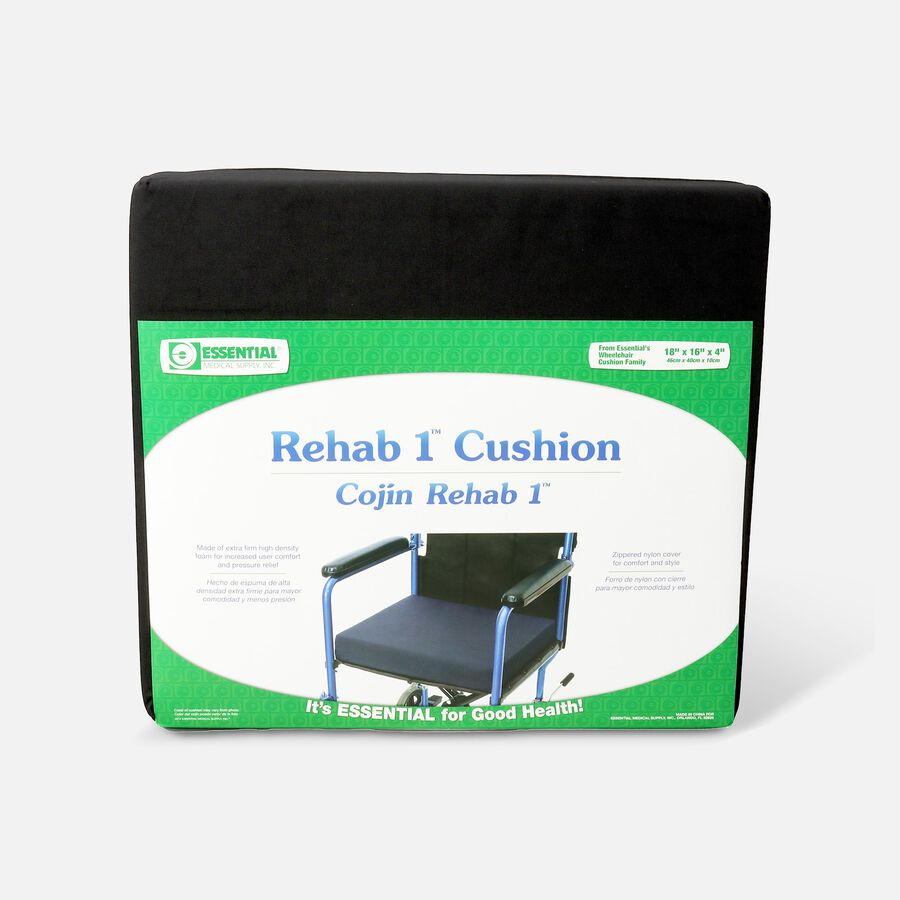 """Essential Medical Supply REHAB 1 Wheelchair Cushion, 18"""" x 16"""" x 4"""", , large image number 0"""