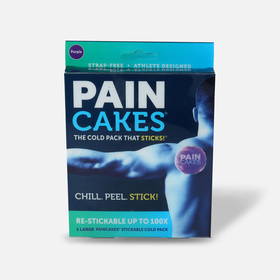 """PainCakes Stick & Stay Cold Packs, 5"""", Purple, , large image number 0"""