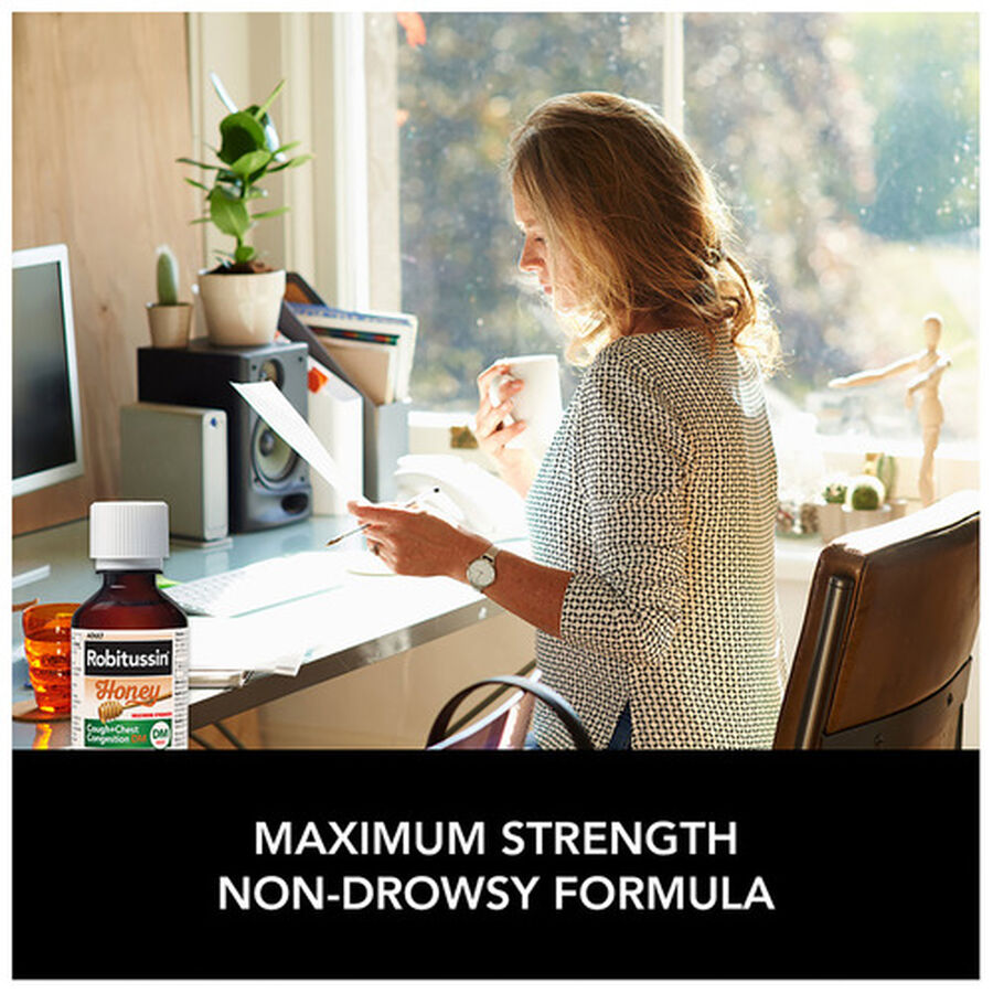 Robitussin Honey Cough and Congestion DM, Maximum Strength, 8 fl oz, , large image number 4