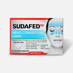 Sudafed PE Sinus Head Congestion + Pain Non-Drowsy Caplets 20 ct