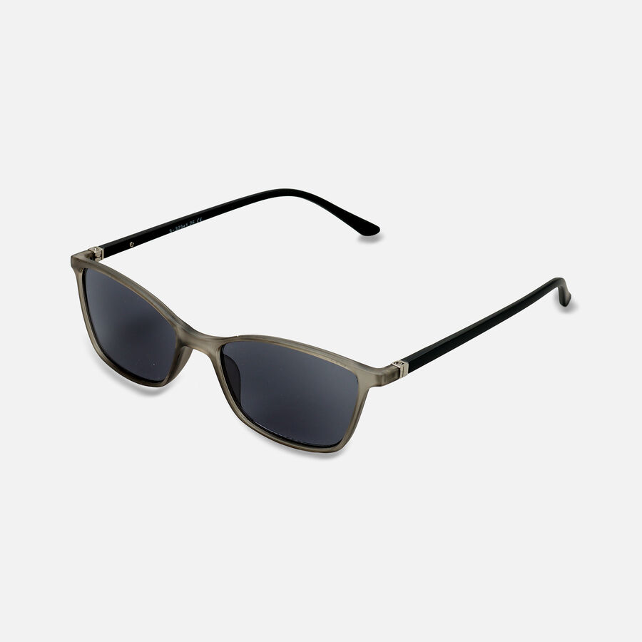 Sunglass Reader with Smoke Tint, Matte Crystal Gray, , large image number 1