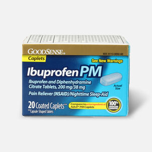 GoodSense® Ibuprofen PM 200 mg/38 mg Coated Caplets, 20 ct