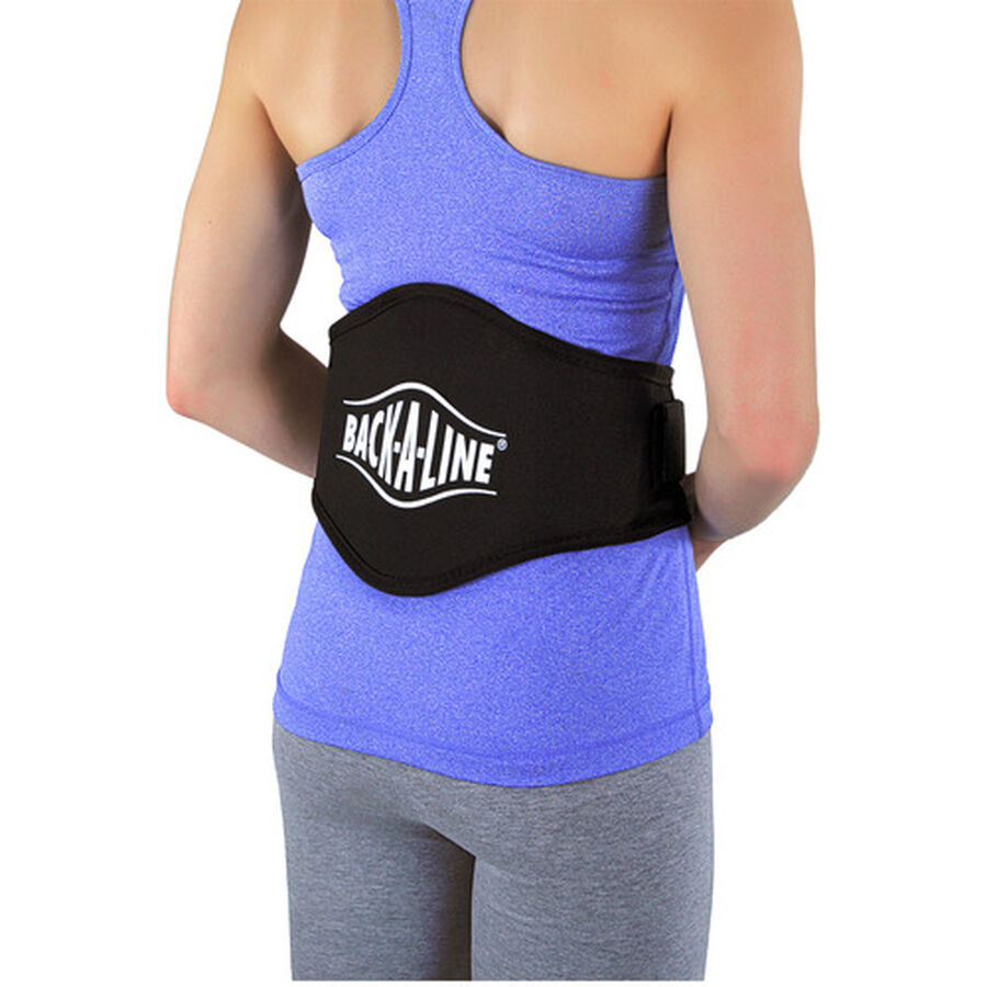 Back-A-Line Back Support with Lumbar Pad, Xtra Large, Black, , large image number 1