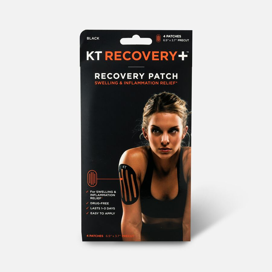 KT Tape Recovery+ Patch 4 ct Black, , large image number 0