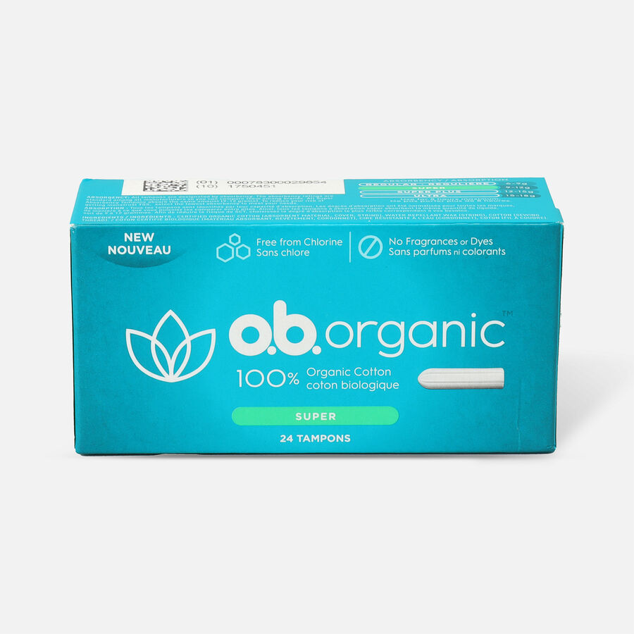 o.b. Organic Super Tampon, 24ct, , large image number 0