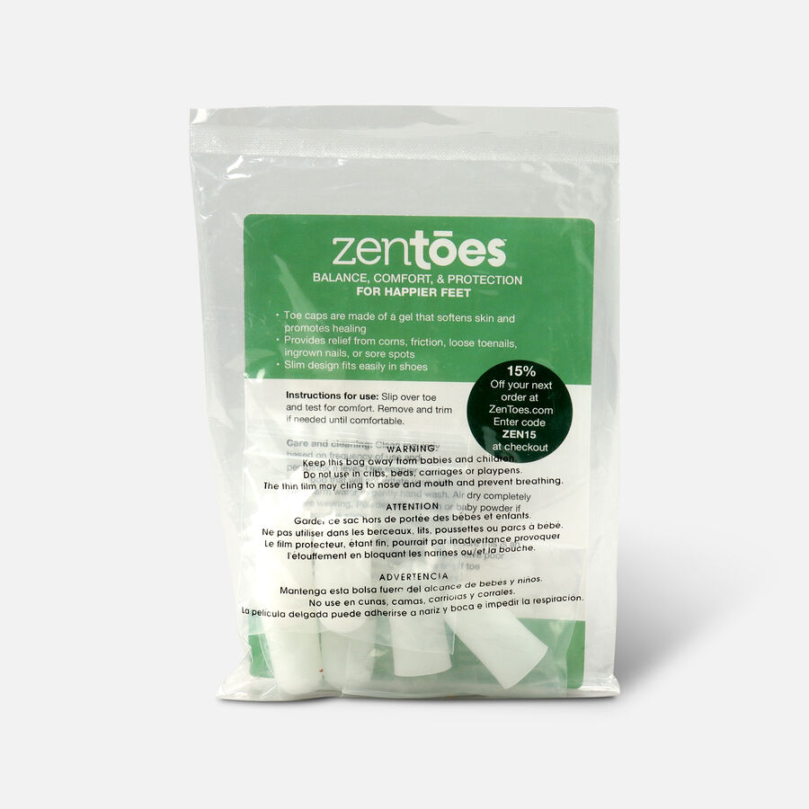 ZenToes Small Gel Toe Cap and Protector - 6 Pack, , large image number 3