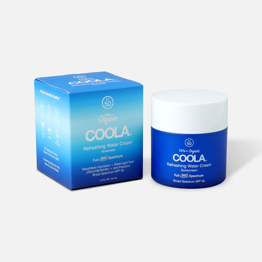 Coola Refreshing Water Cream Sunscreen SPF 50, 1.5oz, , large image number 0