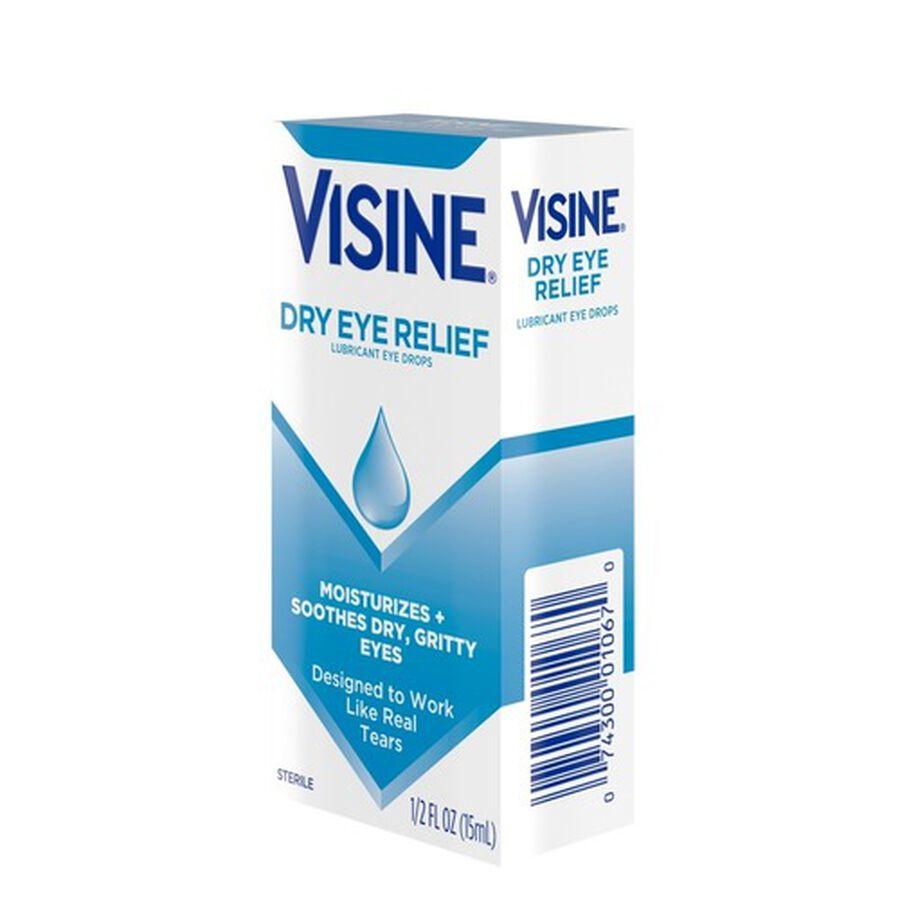 Visine Dry Eye Relief Lubricating Eye Drops for Dry Eyes, 0.5 fl. oz, , large image number 7