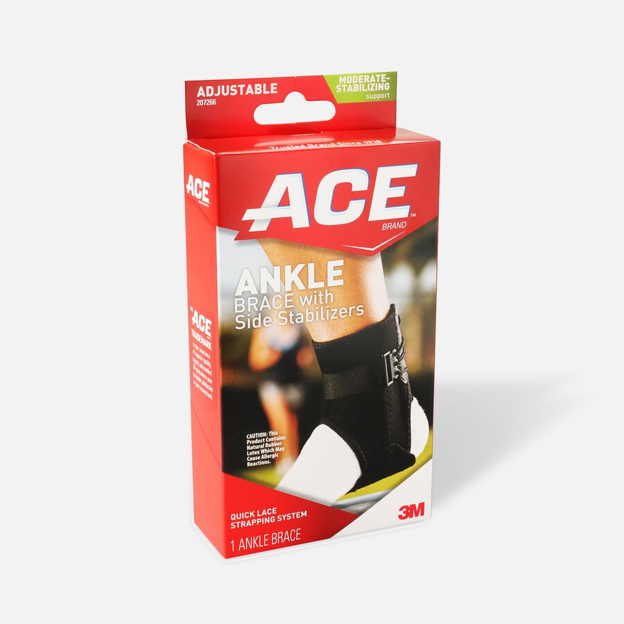 Ace Ankle Brace with Side Stabilizers, One Size, , large image number 2