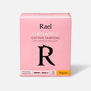 Rael Organic Cotton Tampons with Cardboard Applicator