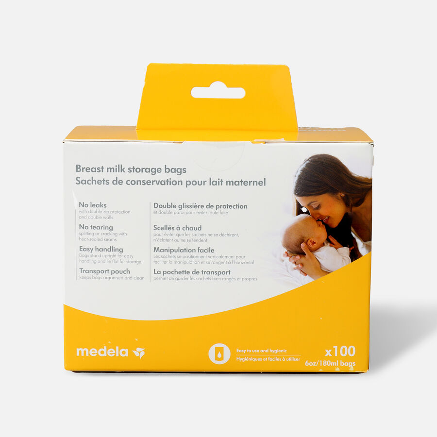Medela Breast Milk 6oz Storage Bags, 100 count, , large image number 1