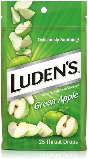 Luden's Green Apple Throat Drops, 25 ct.